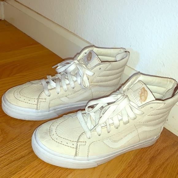 Vans Shoes | Womens Vans Cream Offwhite